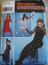 Simplicity 9310 Witch ,Angel, Devil, & Vampire  Children's Costumes 7 -14 Uncut