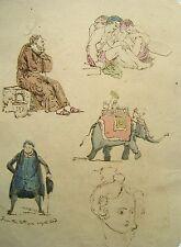 India raj indian figures, éléphant, moine, etc., avec col grandes hutchinson 1837
