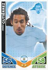 JONAS GUTIERREZ # ARGENTINA TRADING CARD MATCH ATTAX ENGLAND TOPPS 2010