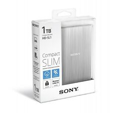 "Sony HD-SL1 1TB 2.5"" Slim Portable External Hard Drive 1 TB for Mac Windows SIL"