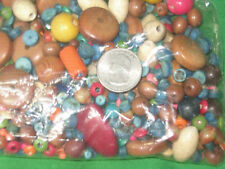 Wood Beads Assortment -Multi-Color- 1/2 Pound