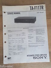 Schema SONY - Service Manual Integrated Stereo Amplifier TA-F117R TAF117R