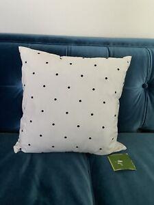 Kate Spade Black & White Polka Dot Pillow