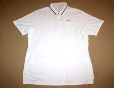 Nike Tiger Woods Collection Polo Shirt Dri Fit Men XXL White NEW