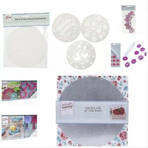 Get Baking Cupcakes Recipe Book Biscuit Set Cases Wrappers Stampers Cake Box-UK
