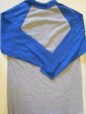 "Nos '90's Augusta Baseball Undershirt Jersey Size Small 34"" Chest Gray Blue"
