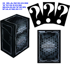YuGiOh Dark Hex Card Sleeves Deck box Bundle with 3 Booster Packs!!!