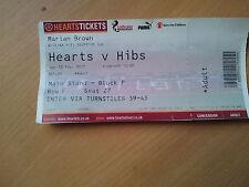 TICKET: HEARTS v hibs 12/02/17