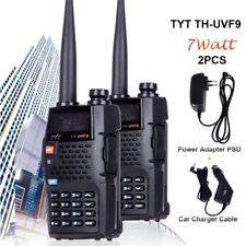 2x TYT TH-UVF9 2-Way Radios Dual Band VHF UHF Walkie Talkie CTCSS/DCS Long Range
