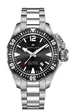 Hamilton Khaki Navy Frogman Auto Stainless Steel Black Dial Men Watch H77605135