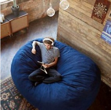 Adult Bean Bag Chair Fuf Dorm Oversized Lounger Sleeper Memory Foam Extra Large