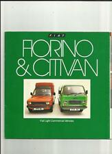 FIAT FLORINO AND CITIVAN  VAN TRUCK LORRY SALES BROCHURE 1981