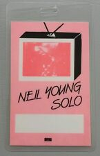 1983 Neil Young Laminated Backstage Pass Solo Tour