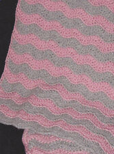 Crochet Pattern ~ WAVES & LACE PRAYER SHAWL, AFGHAN ~ Instructions