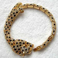 Navachi Cheetah Leopard Animal 18K Gold Plated Crystal Bracelet Bangle BH3001