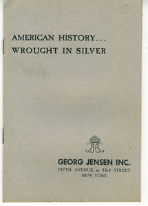 1950s eight page Trade Catalog Flatware Booklet from Georg Jensen New York