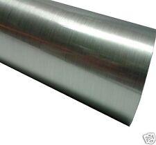 BUY 2 GET 1 FREE Brushed Ally Aluminium Effect Sticky Back Plastic Sign Vinyl