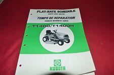 Kubota T1400 T1400H Flat Rate Manual CHPA