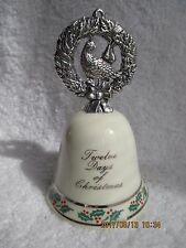 Vintage Reed & Barton 1 Ceramic Bell 12 Days Christmas Collectibles New in Box
