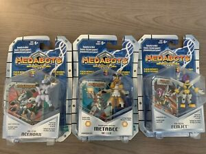 Medabots. Lot of 3, Rare. Robattle. Game card & die. New sealed in packages.