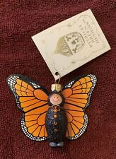 New listing 2011 Patricia Breen Halloween Papillion Trickster Monarch Orange Black Mint