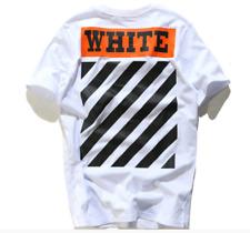 OFF#WHITE Printed VTM#FOG 2019 New  Unisex Religious Diagonal Stripes T-Shirt