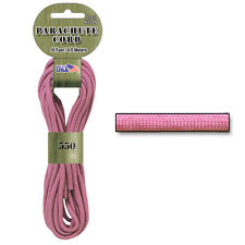 Pink color 550 Parachute Cord Paracord for survival bracelets jewelry crafts