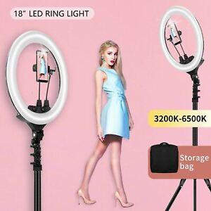 18'' LED dimmbar Ringlicht Ringleuchte mit Handy Stativ für Live YouTube Makeup