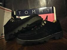 Vintage Tommy Hilfiger Black Leather Suede Lace-Up Oxford Hiking boots Men's  13