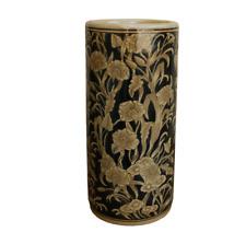 Ceramic Embossed Umbrella Holder Walking Stick Storage Stand Regal Design
