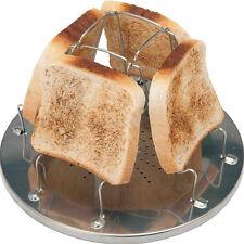 Camping toaster für Gaskocher faltbar platzsparend Brotröster Outdoor  New.