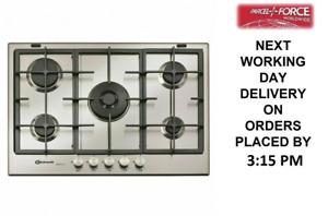 Bauknecht By Whirlpool TGW6572IXL 75cm 5 Burner Gas Hob (Wok) + 2 Year Warranty