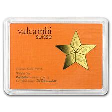 2015 5x 1 gram Cook Islands $25 Gold Star CombiCoin Valcambi - SKU #94103