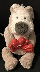 Tedmund Ted Beige Teddy Bear 'Love You!' Letters Soft Toy Plush