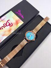 New Boum Women's Rose Gold And Aqua Bracelet Watch