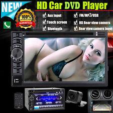 2 DIN Car Multimedia FM AM Radio DVD CD HD Player Bluetooth Rear View Camera