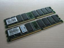 NCP DDR SDRAM 512MB (2 X 256MB) PC-2100 266MHz Memory TEST OK!