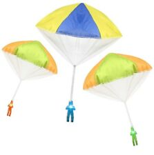 """3Pack Tangle Free Light Up Toy Parachute Man with Large 20"""" Parachutes!"""