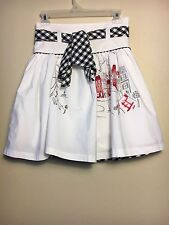 Girls Pumpkin Patch Skirt, White, Size 11