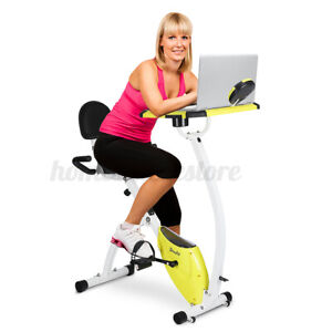 Exercise Bike with Desktop EB-07 Indoor Workout Bike Foldable Home Office Gym