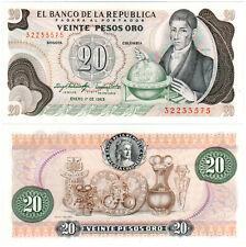 Colombia 20 Pesos Oro P#409d (1983) Banco de la República UNC