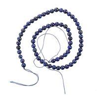Round Gemstone Blue Lapis Lazuli Loose Beads 6mm Strand HOT C4F3