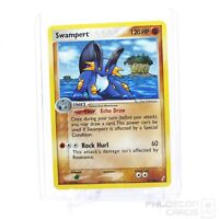 NM-Mint Swampert Reverse Holo 27/100 EX Crystal Guardians Pokemon Card