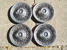 "Vintage 1970's Buick Spoke Wheel 14"" Hubcaps"