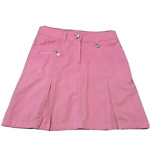Daily Sports Skirt Tennis Badminton Womens Pink A Line Pleated Size 12