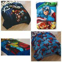 nEw MARVEL COMICS BED COMFORTERS - Superhero Avengers Spiderman Cover Blanket