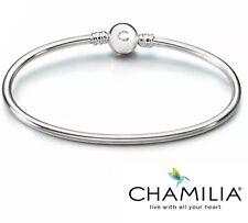 Genuine Chamilia 925 silver Brilliance charm bangle bracelet 18cm in box