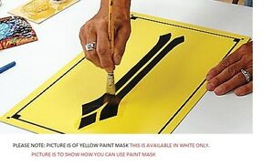 """12"""" x 10yd AVERY WHITE PAINT MASK sign vinyl LOOK"""