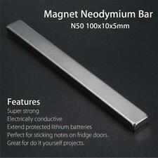 1PC Super Strong Magnets Bar Block Rare-Earth Neodymium 100x10x5mm N50 NdFeB