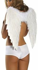 "White Feather Wings for Costume 18 1/2"" Long 20"" Spread Open Roma 1361"